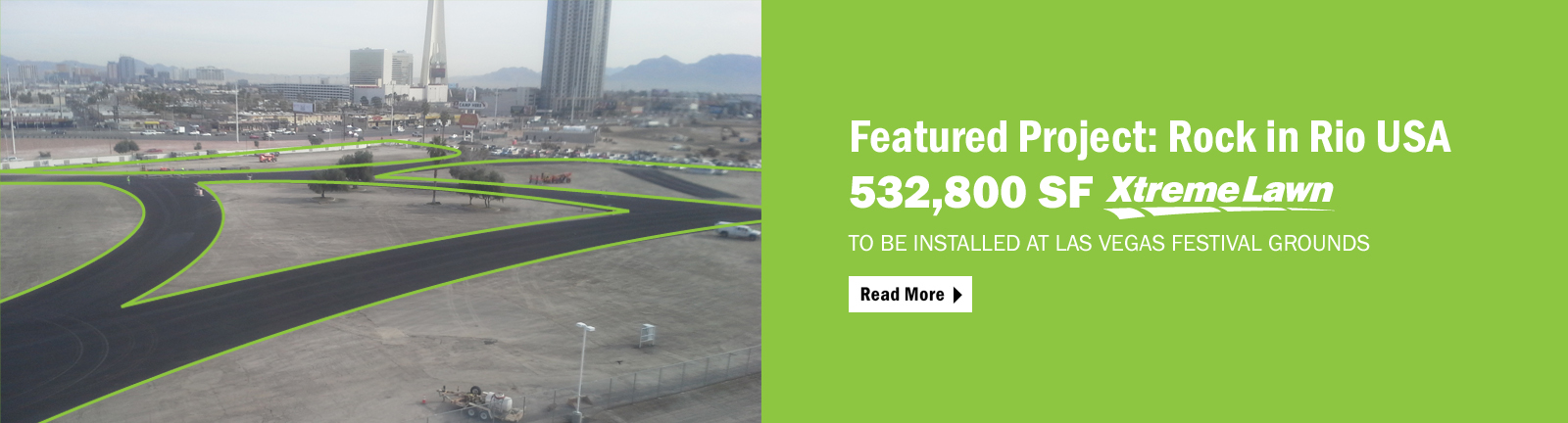 Rock in Rio in Las Vegas will feature Act Global's Xtreme Lawn synthetic turf