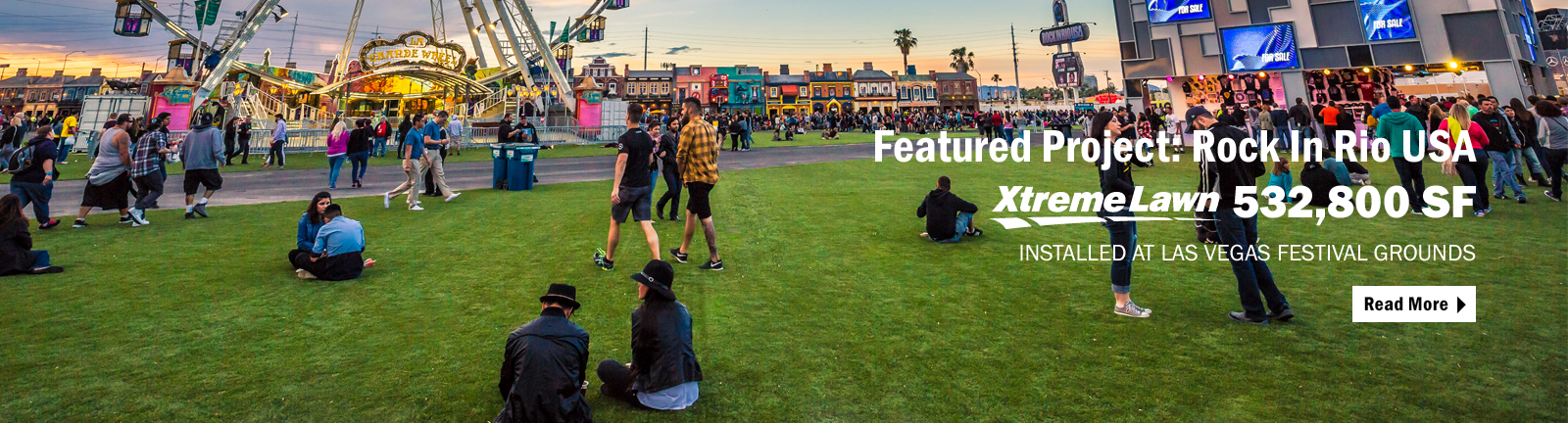 Rock In Rio in Las Vegas featured Act Global's Xtreme Lawn synthetic landscape turf