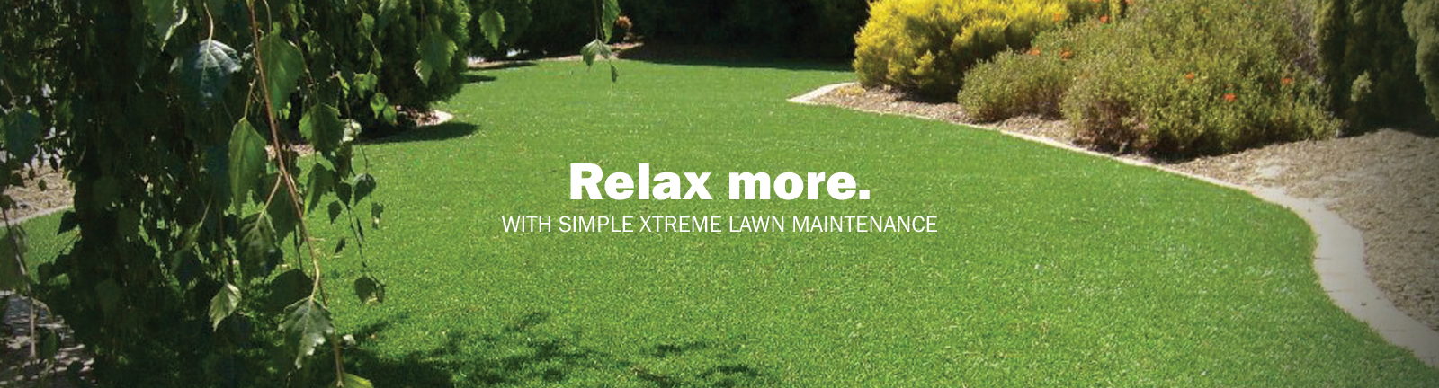 easy landscape grass maintenance